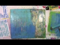 Envelopes and Stencils on the Gelli Plate with Carolyn Dube using StencilGirl stencils