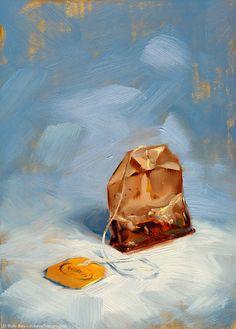 Teabag in Blue Print of original oil painting by robreyart 14 00 Painting Inspiration, Art Inspo, Image Jesus, Tea Bag Art, Arte Sketchbook, Guache, Still Life Art, Painting Still Life, Art Design