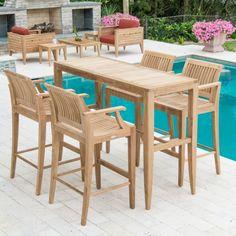 Somerset Teak Bar Stool and Bar Table Set | Somerset, Teak furniture ...