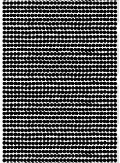Marimekko Marimekko Räsymatto Fabric White/Black - KIITOSlife - 1