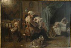 Pierre-Louis Dumesnil, Servant Dressing Children, 1730. Musée Carnavalet