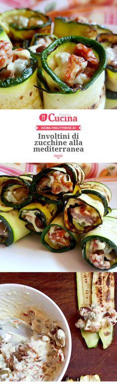 Involtini di zucchine alla mediterranea della nostra utente Monica. Unisciti alla nostra Community ed invia le tue ricette!