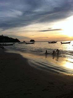 Sunset in Kamala beach in Phuket