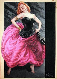 Italian Movie Poster artwork for Affair In Trinidad, 1952.