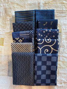 Japanese Textiles, Japanese Fabric, Blue Fabric, Silk Fabric, Japanese Cotton, Christmas Ribbon, Indigo Dye, Patchwork Bags, Clothes Crafts