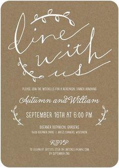 Before Mr. & Mrs. - Petite Rehearsal Dinner Invitation | More ...