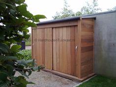 Douglas hout, alles over Douglas hout Wood Storage Sheds, Garden Tool Storage, Bike Storage, Garage Storage, Shed Design, Garden Design, Bbq Shed, Shed Landscaping, Front Garden Landscape