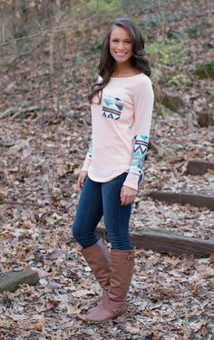 The Pink Lily Boutique - The Lucky One PEACH Sequin Blouse, $39.00 (http://thepinklilyboutique.com/the-lucky-one-peach-sequin-blouse/)