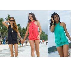Women's Stylish Perfect One Piece Bathing Suit Swimwear Swim Dress Teal Sz XL