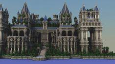 Mazik Palace Minecraft Project Minecraft Interior Design, Minecraft Architecture, Minecraft Designs, Minecraft Creations, Minecraft Palace, Minecraft Castle, Minecraft Medieval, Minecraft Stuff, Hogwarts Minecraft