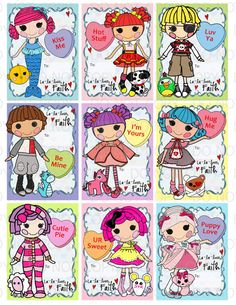 Printable DIY Personalized Button Doll Theme by onelovedesignsllc, $5.00