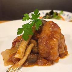 4品目‼️ お肉より、具の多いお料理でした。 ブルゴーニュが合います - 164件のもぐもぐ - 鶏肉の赤ワイン煮 by sumity