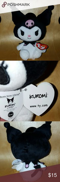 Brand new Kuromi Beanie babies plush Super cute Beanie plush. By the makers of hello kitty TY Other