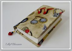 Handmade Book cover with beaded bookmark attached by LillyBlossom, $18.00