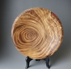 Wooden Chestnut Platter/ plate