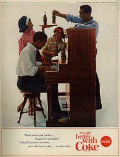 "1963 Ad, Coca-Cola, ""Piano Party"" | Flickr - Photo Sharing!"