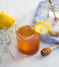 A Summer Whiskey Cocktail with Earl Grey-Honey Syrup