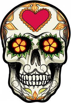 Sticker Calavera - Tete De Mort Mexicaine 18 - ref.d7456 | MPA Déco