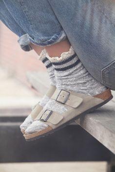 Birks and socks