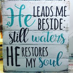 Rustic Pallet Wall Art - Psalm 23 Sign - Beach House Decor - Bible Quote Sign - Gifts for Her - Inspirational Gifts - Wood Wall Sign