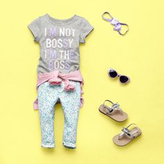The cutest girls toddler & baby clothes are available here at The Children's Place. Shop at the PLACE where big fashion meets little prices! Toddler Girl Outfits, Kids Outfits, Cute Outfits, Little Girl Fashion, Big Fashion, Bilboard Design, Girl Closet, Girl Clothing, Cool Kids