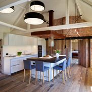 Beautiful Barn Conversion with bulthaup b1 - industrial - Kitchen - South West - Hobsons Choice porte pivotante :)