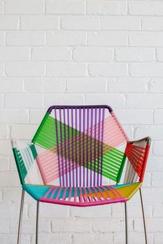 A colourful garden chair! #Garden #Interiors #Home