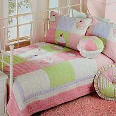 LELVA Cartoon Princess Quilt Set Children's Bedspreads Set Pink Baby Girl Bedding Bedding Twin Size 2 Piece >>> Check this awesome product by going to the link at the image. Kids Bedding Sets, Baby Girl Bedding, Cupcake Bedroom, Cheap Quilts, Embroidered Bedding, Quilted Bedspreads, Quilt Bedding, Quilt Sets, Handmade Baby