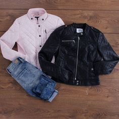 Your winter wardrobe is complete only if you have a cool pair of ‪#‎LeatherJacket‬ and a denim. ‪#‎Kapsons‬ ‪#‎Womenswear‬ ‪#‎ShopAtKapsons‬