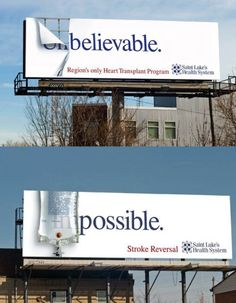 Clever billboards for St Luke's Health System
