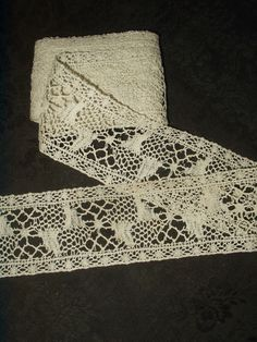 Victorian Edwardian Wide Bobbin Lace Insertion Trim 4 Yards + Unused - The Gatherings Antique Vintage