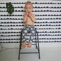Look at this cutie pie together with our Half Moon Wallpaper?! Just adorable!  ferm LIVING Half Moon Wallpaper - http://www.fermliving.com/webshop/shop/half-moon-wallpaper-black.aspx  psst... available in other colors..