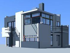 Schröder House (Gerrit Rietveld, 1925) Facade Architecture, Residential Architecture, Amazing Architecture, Exterior Design, Interior And Exterior, Schroder House, Dream House Interior, House Drawing, Building Facade