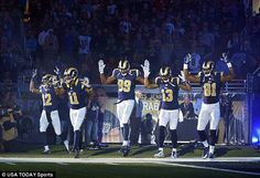 Five St. Louis Rams players pull on-field stunt to show 'solidarity' with Ferguson thugs, while protesters are arrested outside stadium  https://www.facebook.com/pages/Bay-State-Conservative-News/232712126794242