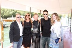 """Marcello Iappelli, Marina Di Guardo, Giorgia Marin, Andrea Montovoli and Elisabetta Pellini arrive at the Excelsior Hotel for the """"Infernet"""" press conference during the 72nd Venice Film Festival on September 10, 2015"""