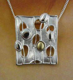 Ola Gorie Silver Pendant Chain Mixed Metal Flow Boxed Scottish