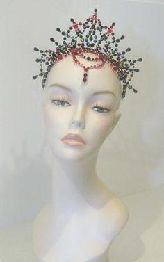 Ballet Carabosse (Sleeping Beauty) Tiara V2 Buy Dance tiaras, Swarovski crystal beaded headpieces for ballet dancers