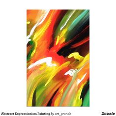 Abstract Expressionism Painting Stationery