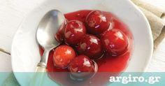 Κεράσι γλυκό του κουταλιού από την Αργυρώ Μπαρμπαρίγου | Κόκκινα κεράσια ερμητικά κλειστά σε βάζα! Απολαύστε τη γεύση και το χρώμα των κερασιών όλο το χρόνο
