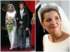 The Royal Order of Sartorial Splendor: Wedding Wednesday: Colorful Bridal Tiaras