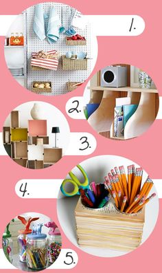 Creative DIY Storage Solutions for Organizing Your Home and Office Made from Recycled, Upcycled and Repurposed Items