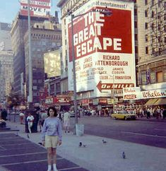 TIMES SQUARE vintage color photo NEW YORK CITY 1960s billboards NYC 1963 by Christian Montone, via Flickr