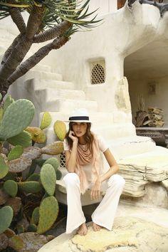 Summer Scarf + Panama Hat