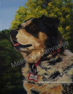 """Sasha"" Oil on canvas.  14x11inches.  2016.  Dog portrait"