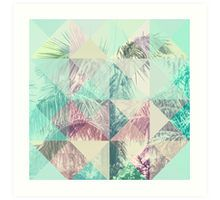 Triangle Palms IV Art Print