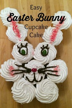 Easy Easter Bunny Cupcake Cake