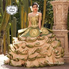Quince Dresses Mexican, Mexican Quinceanera Dresses, Quinceanera Ideas, Mariachi Quinceanera Dress, Vestido Charro, Sweet 15 Dresses, Beautiful Long Dresses, Ball Gowns, Girls Dresses