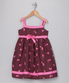 Brown Floral Polka Dot Babydoll Dress - Toddler & Girls  by Summer Sale…