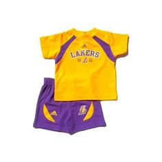 INFANT Baby Clothes Los Angeles Lakers 2-Piece Shirt Short Pants... ($30) ❤ liked on Polyvore