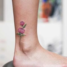 27 Breathtaking Watercolor Flower Tattoos: #17. SMALL PEONY FOOT TATTOO; #watercolortattoo; #flowertattoo; #tattoos